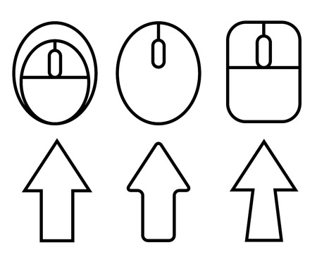sites: click pointer, computer mouse icons Illustration