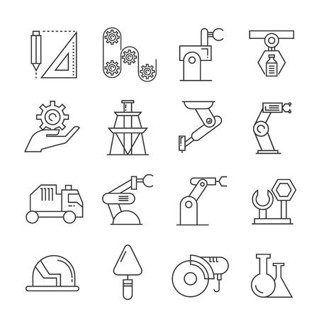 산업 로봇 아이콘, 제조 아이콘