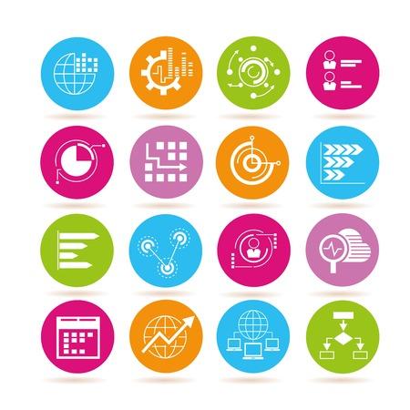 criterion: data analytics icons Illustration
