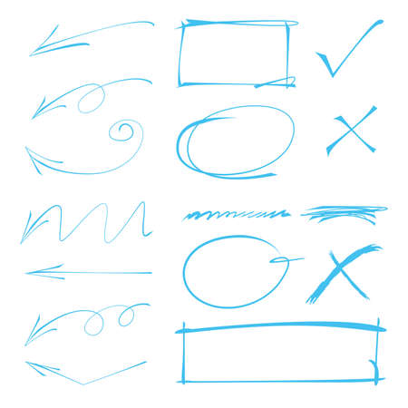 emphasis: arrows, circles marker elements