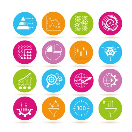 estimation: data icons data analysis icons