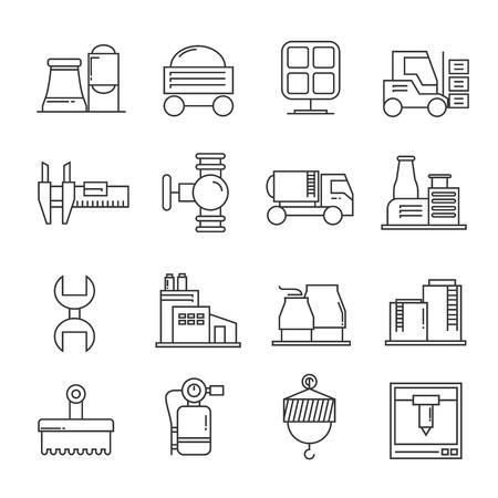 industry icons: factory icons, industry icons