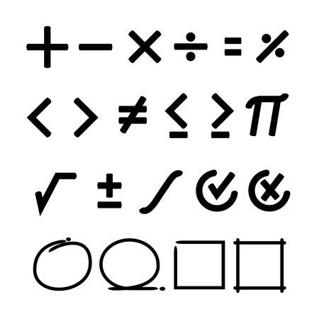 segno matematica