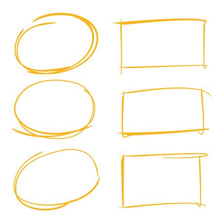 cirkel en rechthoek markeerstiften Vector Illustratie
