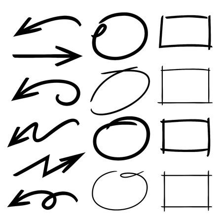 arrows rectangle, underline