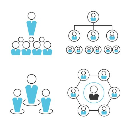 people network icons Vector Illustration