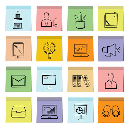 monograph: office icons