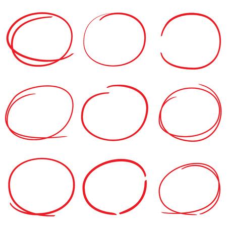 underscore: vector highlighter circle set