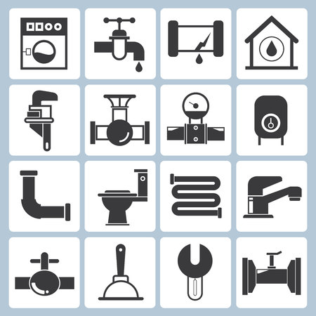 plumbing repair: plumbing icons