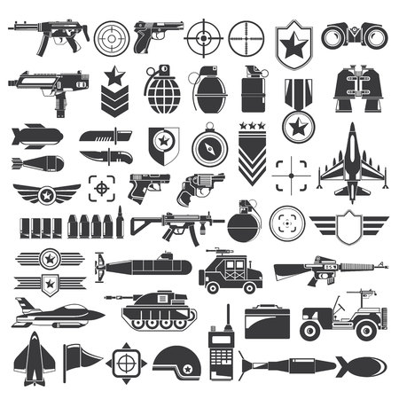 arming: weapon and war icons