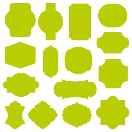 old letter: label design set