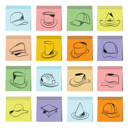 posit: hat icons Illustration