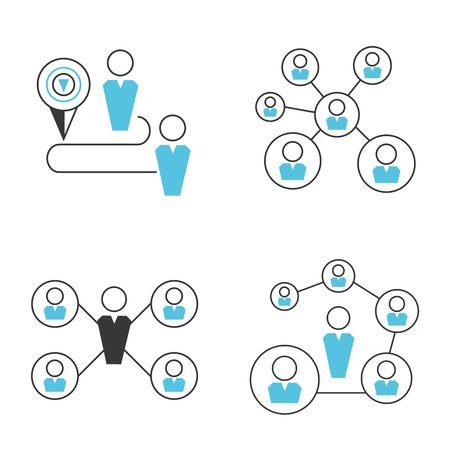 colleagues: people network, social network icons