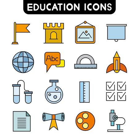 ball pens stationery: iconos de la educaci�n