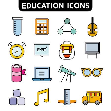 ball pens stationery: iconos de la educación