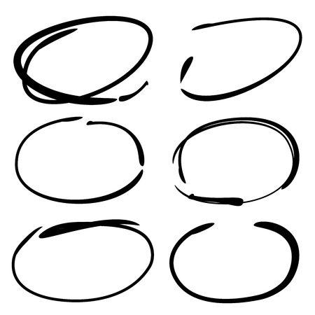 emphasis: hand drawn circle highlighters