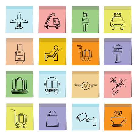 posit: airport icons Illustration