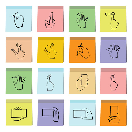 touch: hand touch icons