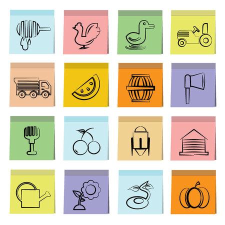 tillage: iconos agrícolas