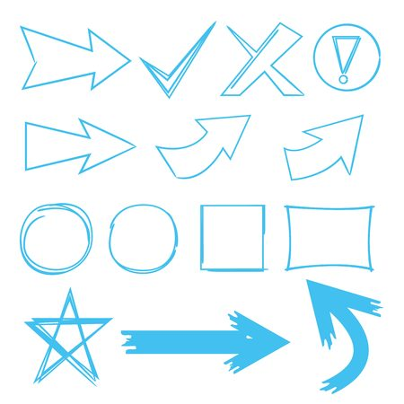 emphasis: arrows, tick marks and abstract circle marker