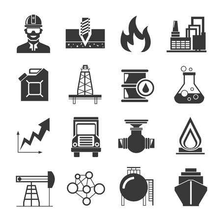 Chemical: oil and gas icons