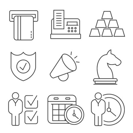 business: business icons Illustration
