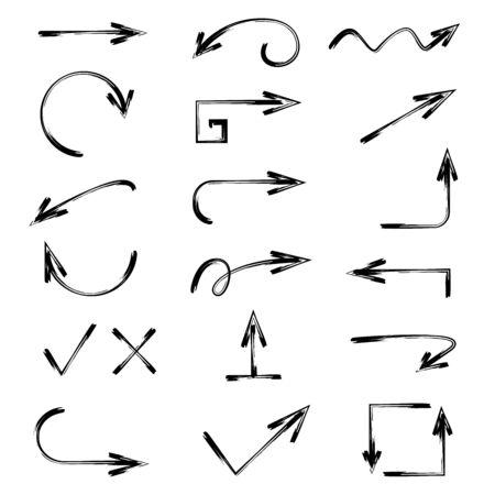 hand drawn arrow icons