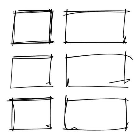 グランジ長方形フレーム