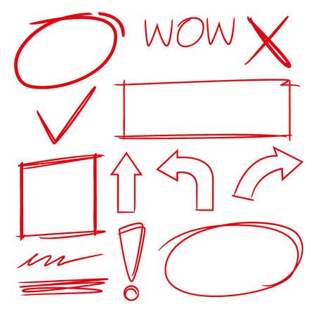 underscore: highlight elements, marker set, arrows, check marks