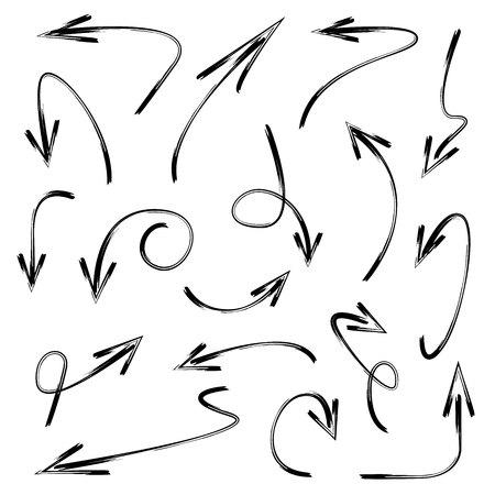 down: hand drawn arrows Illustration