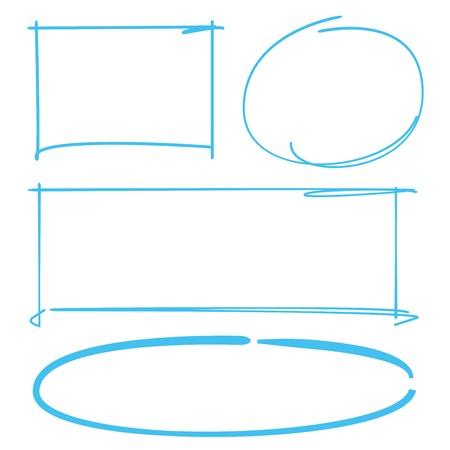 highlighter: circle and rectangle highlighter set