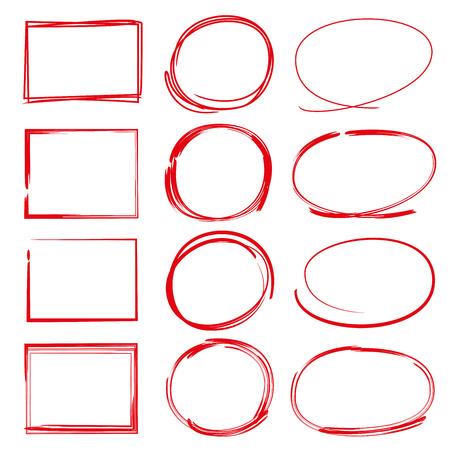 circle marker, rectangle frame Ilustração