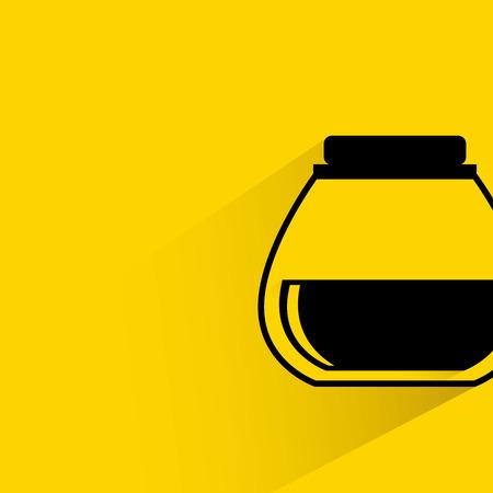 jar: coffee jar, tea jar Illustration