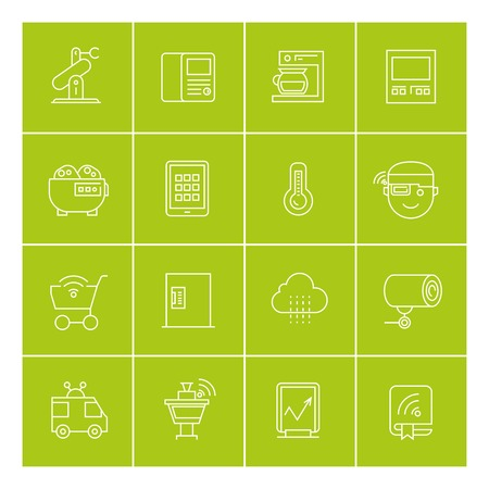 e book device: internet of things and home automation icons