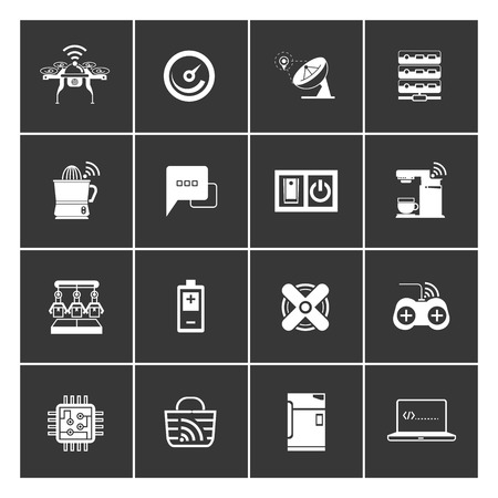 innovating: internet of things concept and home automation icons