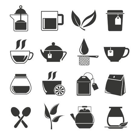 capuchino: iconos de té