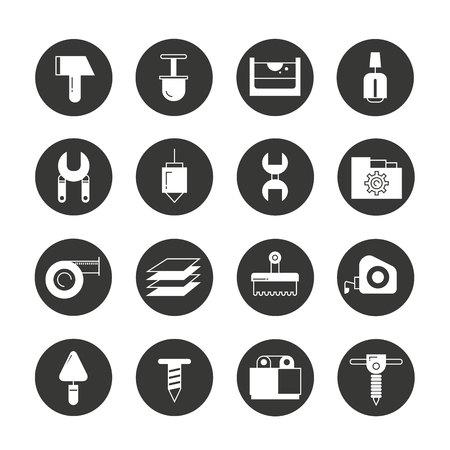 tool icons Vektoros illusztráció