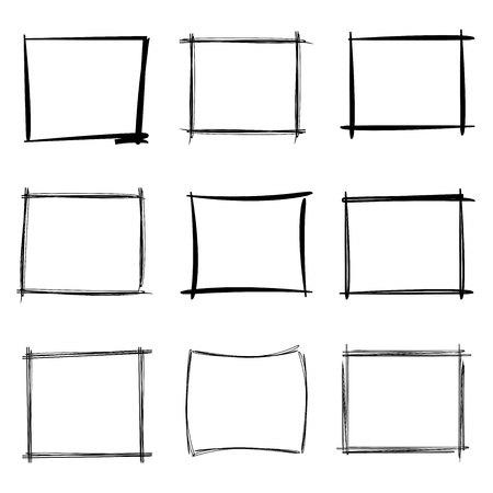 emphasized: sketch border, rectangle frames