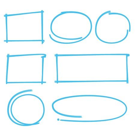 marker: marcador de rectángulo, círculo marcador, marcador del marco