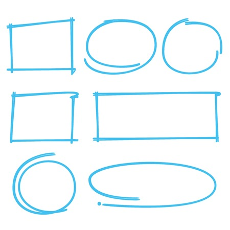 blue lines: rectangle marker, circle marker, frame marker Illustration