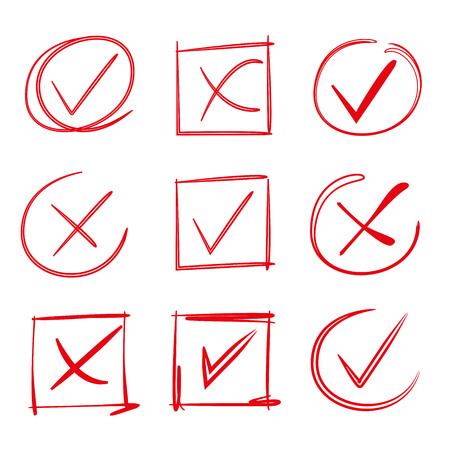 cross match: red check mark