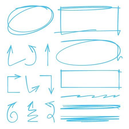 rectangle: circle rectangle marker, arrows Illustration