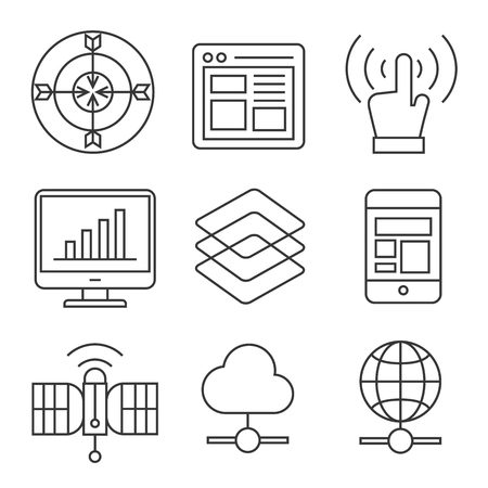 web: web and communication icons