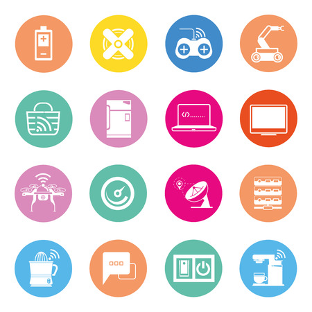 home appliance: internet of things and smart gadget icons Illustration