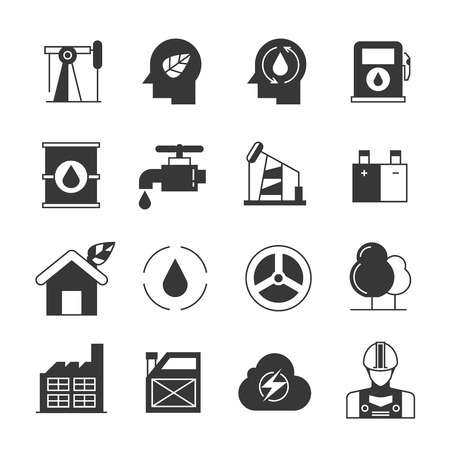 gas tap: oil and gas icons