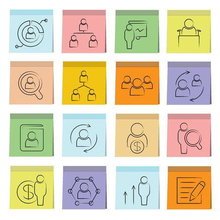 business roles: office and organization management icons Illustration