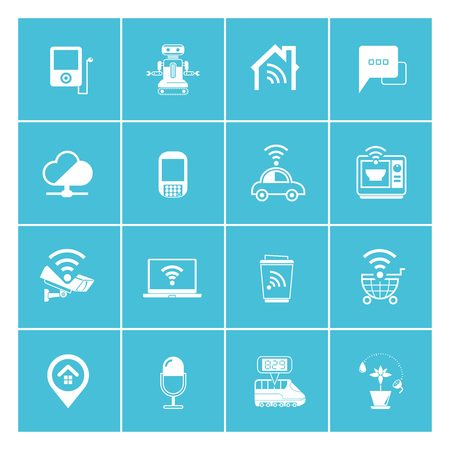 wifi: internet of things and smart device icons