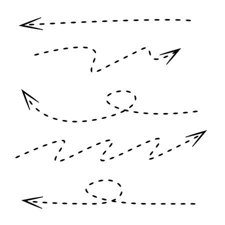 flechas direccion: flechas discontinuas