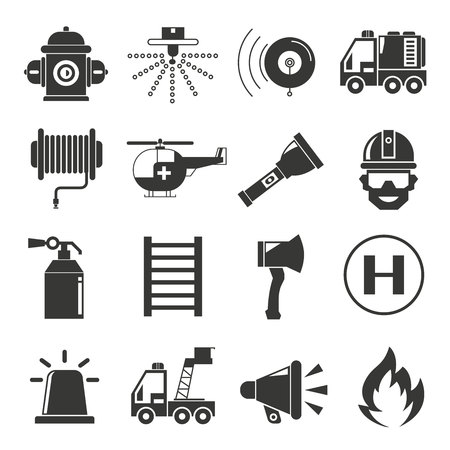 fire hydrant: fire fighter icons