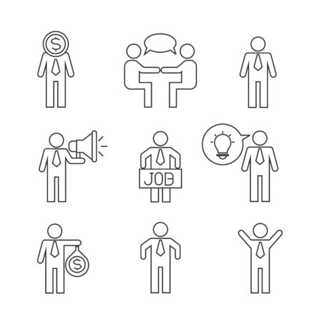jobs people: business man icons